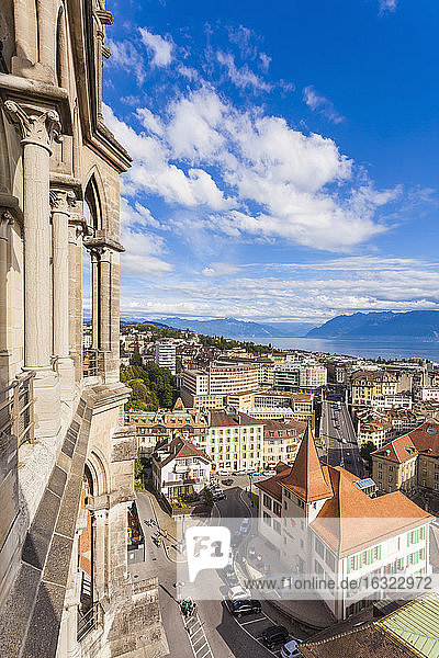 Switzerland  Lausanne  cityscape from cathedral Notre-Dame