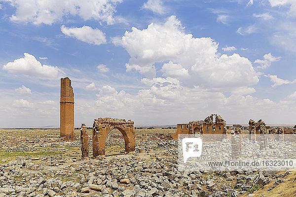 Turkey  Anatolia  South East Anatolia  Sanliurfa Province  Harran  Ruins of the University and Minaret of Ulu Camii