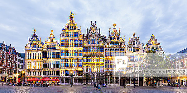 Belgium  Flanders  Antwerp  Old town  Great Market Square with guildhalls