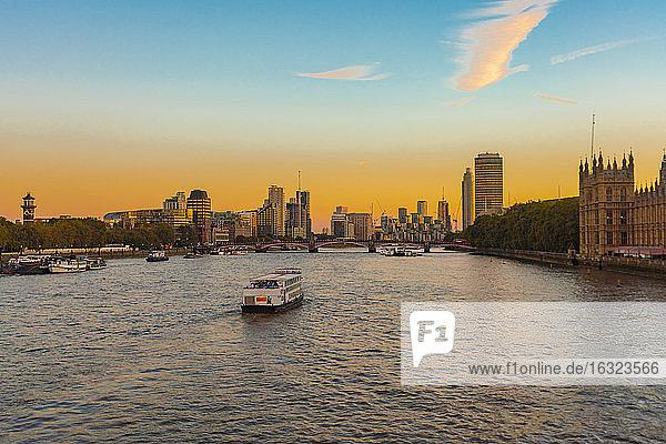 Skyline of London city with   London  UK