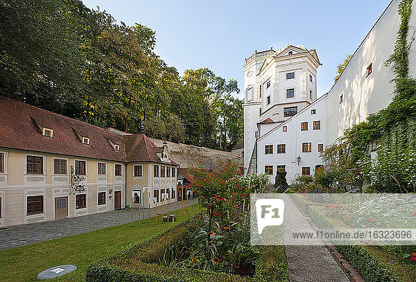 Germany  Augsburg  Lower Brunnemeisterhaus and water towers  Swabian Craftsmen Museum
