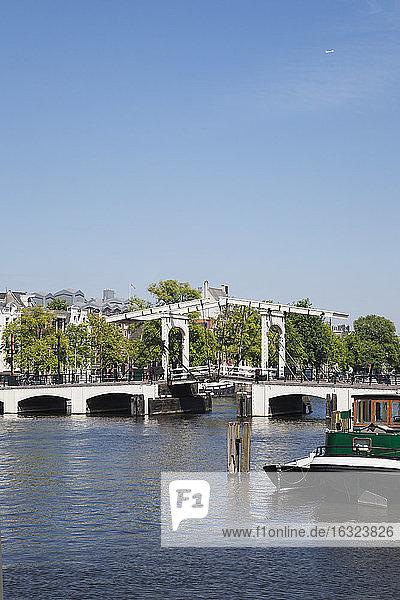 Netherlands  County of Holland  Amsterdam  Magere Brug  river Amstel