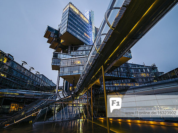 Germany  Hannover  Futuristic architecture of Nord LB building