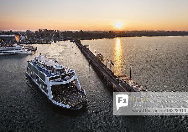 Germany  Friedrichshafen  Lake Constance  ferry in harbour