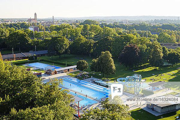 Germany  Bavaria  Augsburg  mixed bathing place  Familienbad am Plaerrer