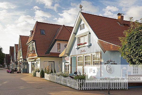 Germany  Boltenhagen  row of old houses