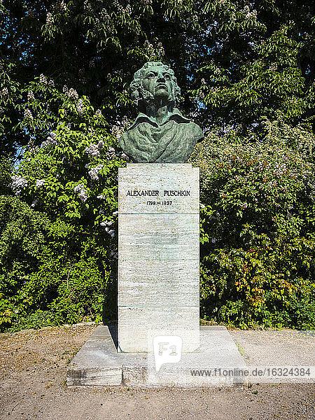Germany  Weimar  bust of Alexander Pushkin