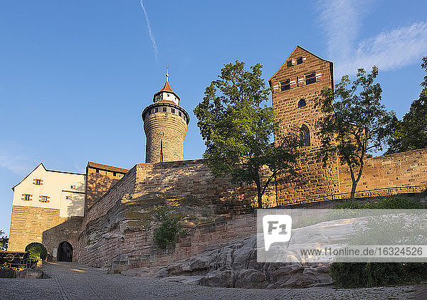 Germany  Bavaria  Middle Franconia  Nuremberg  Imperial Castle  Sinwell Tower and Walburgis Chapel