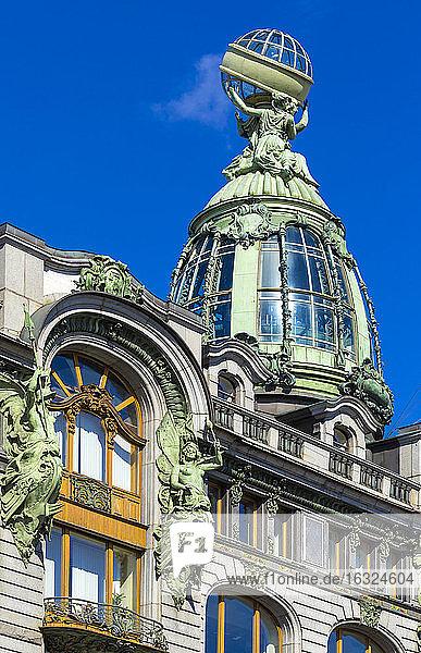 Russia  Saint Petersburg  detail of Singer House