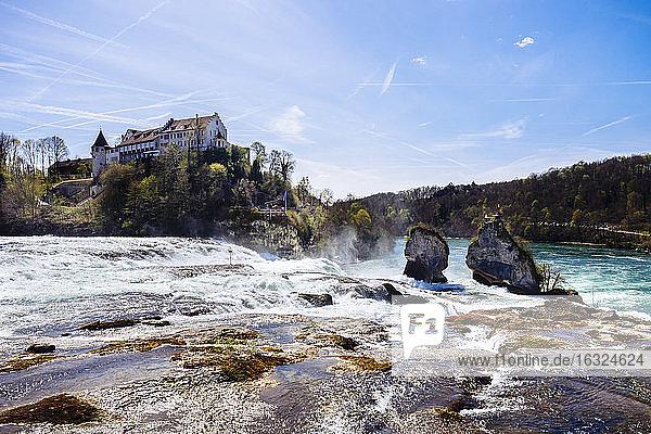Switzerland  Schaffhausen  Rhine falls with Laufen Castle