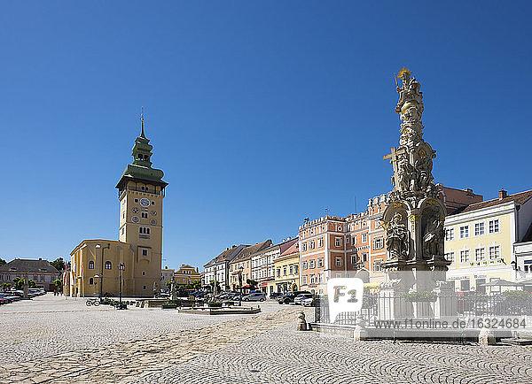 Austria  Lower Austria  Main Square  Townhall and Trinity Column