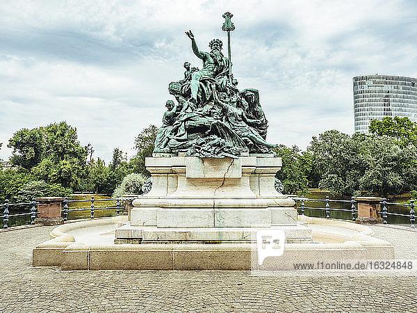 Gemrany  Duesseldorf  fountain sculpture 'Vater Rhein und seine Toechter'