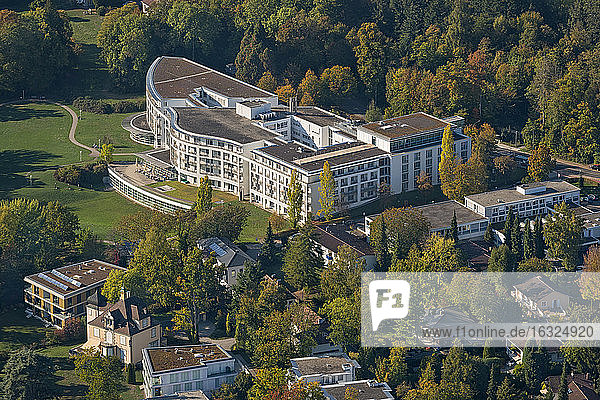 Germany  Baden-Wuerttemberg  Lake Constance  Constance  aerial view clinic Schmieder