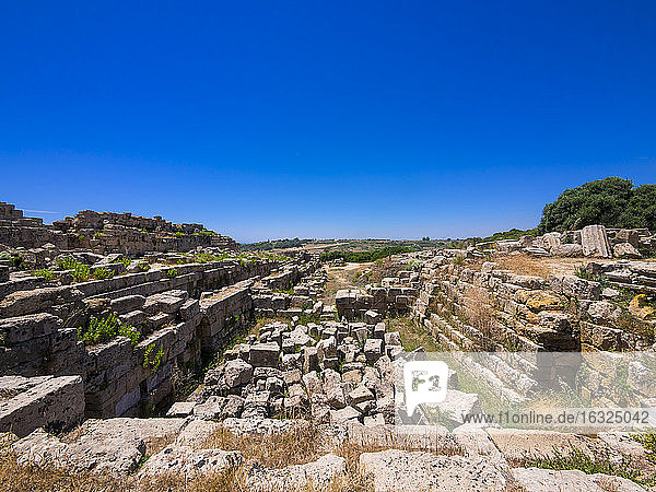 Italy  Sicily  Selinunt  ruins of temple C and G