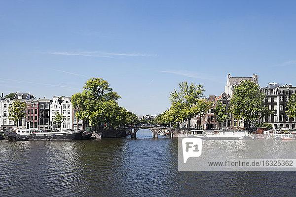Netherlands  County of Holland  Amsterdam  Keizersgracht  bridge  Amstel river