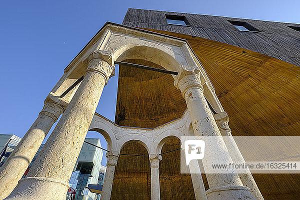 Albania  Tirana  Kapllan Pasha Tomb under TID Tower