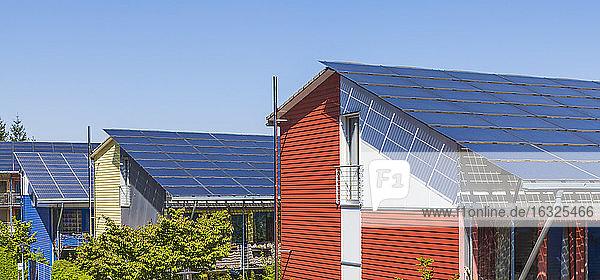 Germany  Freiburg im Breisgau  Energy-plus-houses at Freiburg-Vauban