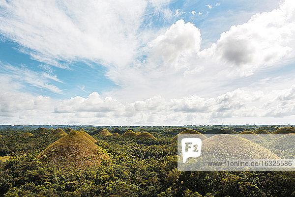 Philippines  Bohol  view to Chocolate Hills