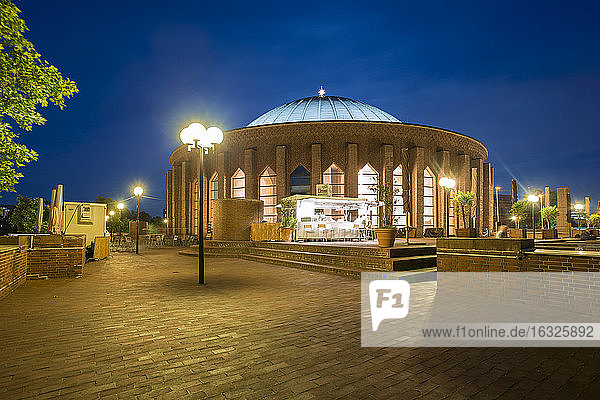 Germany  Dusseldorf  concert hall at night