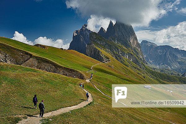 Naturpark Puez-Geisler  Dolomiten  Südtirol  Italien  Europa