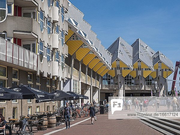 The modern architecture building Kubushaus  Rotterdam  Netherlands