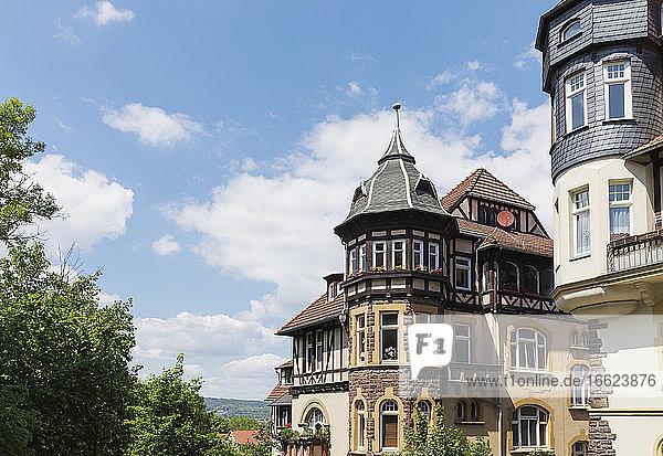 Germany  Thuringia  Eisenach  Historical villas in Predigerberg/Hainstein quarter