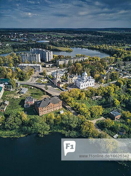St. Sergius Monastery at Bethany pond at Sergiyev Posad  Russia