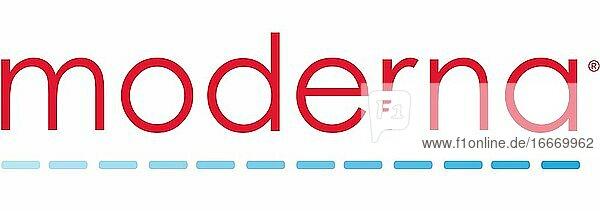 Logo  Moderna  pharmaceutical company