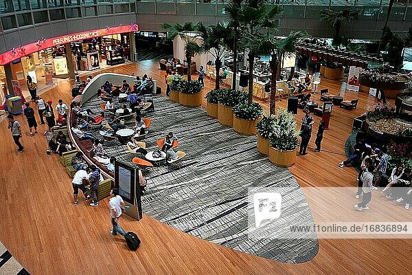 Interior of CHANGI airport terminal   Singapore
