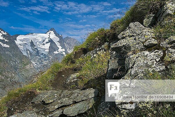 View of the summit of the Großglockner  mountain  Alps  Hohe Tauern National Park  Austria  Europe