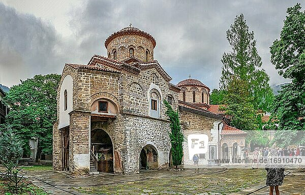 Asenovgrad  Bulgaria 24. 07. 2019. The Church of the Archangels in the Bachkovo Monastery of the Dormition of the Theotokos or Assumption of holy virgin in southern Bulgaria  on a cloudy summer day.