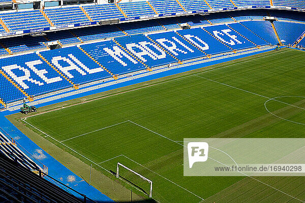 Santiago Bernabeu Stadion von Real Madrid in Madrid  Spanien.