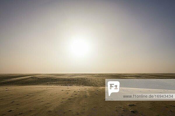 Sandverwehungen im Gegenlicht  Wüste Sahara  Norden des Tschad