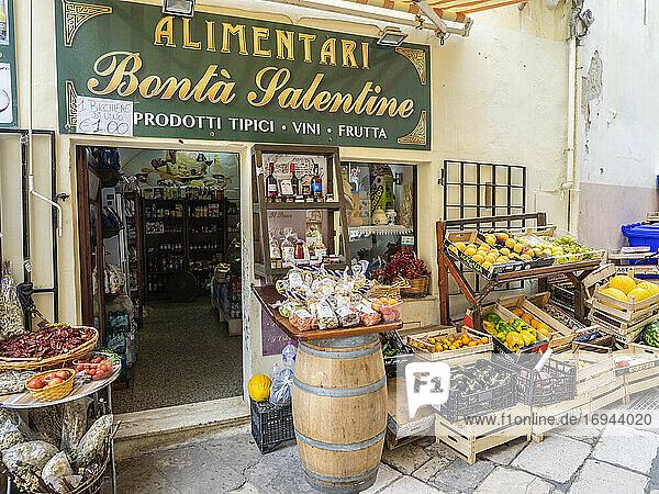 Lebensmittelgeschäft  Gallipoli  Apulien  Italien  Europa