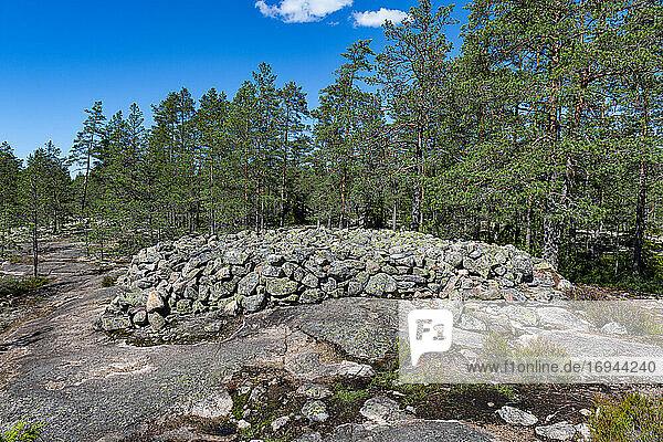 Sammallahdenmaeki  bronzezeitliche Begräbnisstätte  UNESCO-Weltkulturerbe  Finnland  Europa