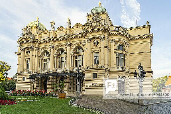 Juliusz Slowacki Theater  Altstadt  UNESCO Weltkulturerbe  Krakau  Polen  Europa