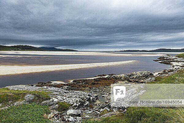 Luskentyre Beach  Isle of Harris  Äußere Hebriden  Schottland  Vereinigtes Königreich  Europa