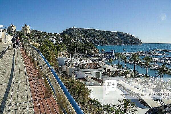 Teulada Moraira Alicante Spain on November 2020  luxury villas at the sea.