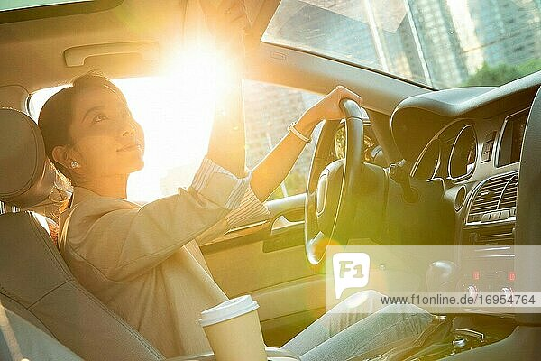 Drive the beautiful young woman