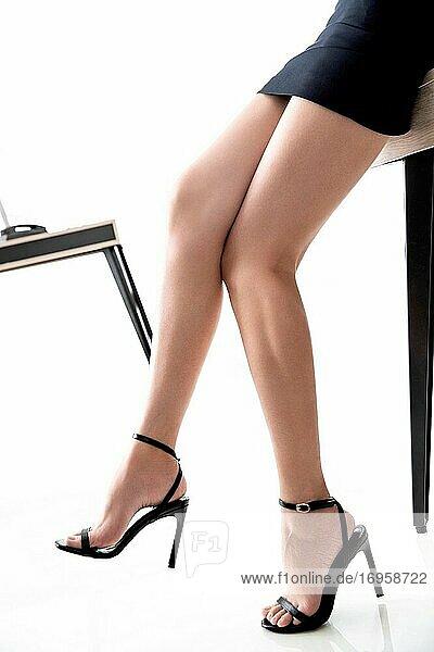 Die junge Dame im Büro