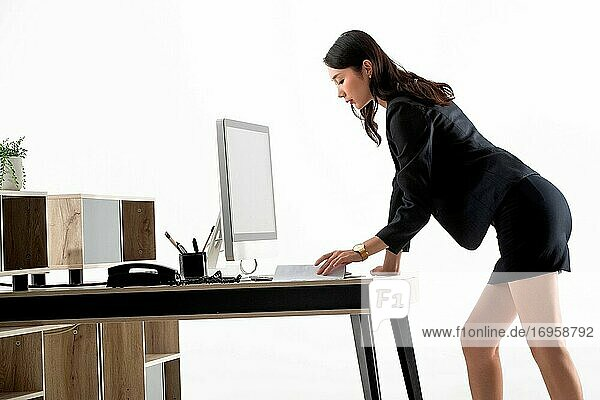 Business lady in the office work