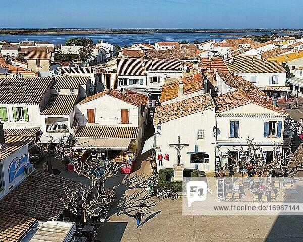 Village view Saintes-Maries-de-la-Mer  Camargue  Provence-Alpes-Côte d'Azur  France  Europe
