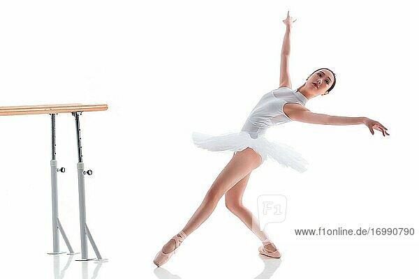 Young women to practice ballet dancing