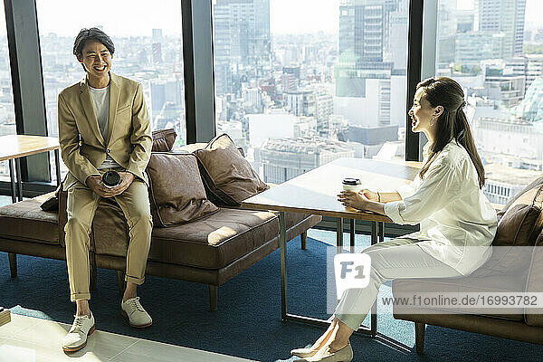 Japanese businesspeople in the office