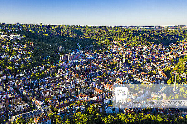 Germany  Baden-Wurttemberg  Stuttgart  Aerial view of residential city district