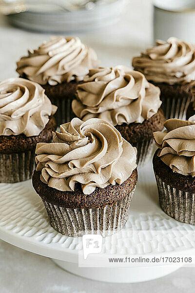 Schokoladen-Haselnuss-Cupcakes