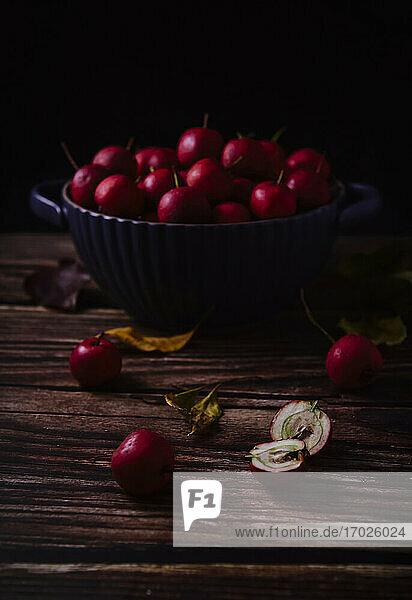 Bowl of hawthorn fruit