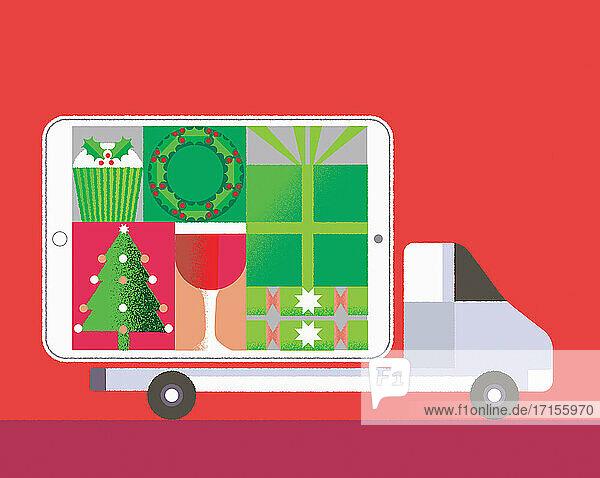 Online-Weihnachtslieferung