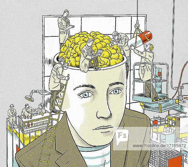 Wissenschaftler erforschen Medizin für das menschliche Gehirn
