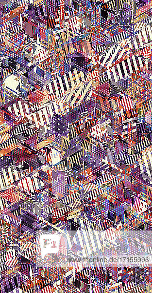 Komplexes abstraktes Mosaikmuster